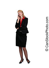 Businesswoman on the phone with a client