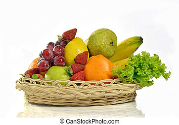 Best Fruit and Vegetables Pictures - a basket of various...