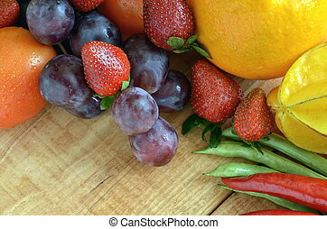 Best Fruit & Vegetables Pictures - Various natural fruit and...