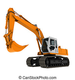 bagger excavator yellow - bagger excavator for design