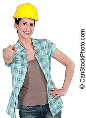Tradeswoman with a can-do attitude