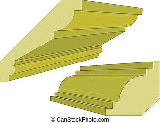 Cornice - Typical cornice as used by the building industry.