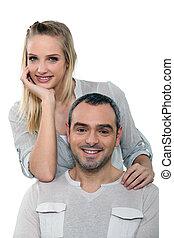 Portrait of a loving couple