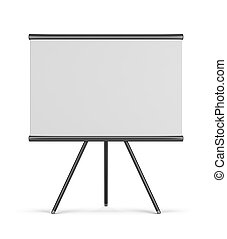 empty board. 3d image. Isolated white background.