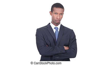 portrait of a businessman with arms crossed
