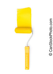 Painting roller, isolated on white