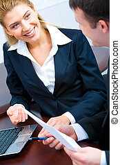 Woman working - Image of business woman during a working...