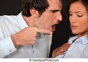 Man extremely angry at girlfriend
