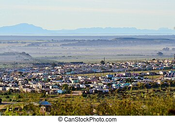 Township - Landscape of township west coast south africa
