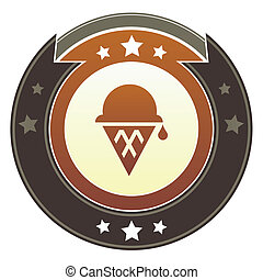 Ice cream cone imperial crest - Ice cream, dessert, or party...
