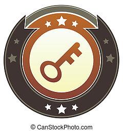 Skeleton key imperial crest - Skeleton key or password icon...