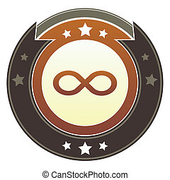 Infinity imperial crest - Infinity or math symbol icon on...