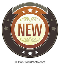 New imperial button - New e-commerce icon on round red and...