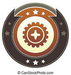 Gear imperial button