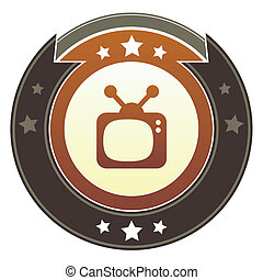 Retro television imperial button - Television, movie, or...