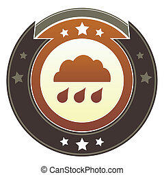 Rain cloud imperial button - Rain cloud, storm, or trouble...