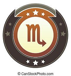 Scorpio zodiac imperial button