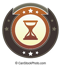 Hourglass imperial button - Hourglass, timer, or wait icon...