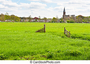 Small Town - Meadows on the Outskirts of a Small Dutch Town