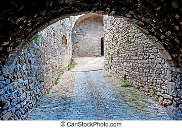 Narrow Streets - Narrow Dark Streets in the French Medieval...
