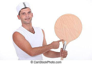 Pizzeria worker