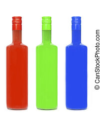 RGB - Three bottles in RGB colors