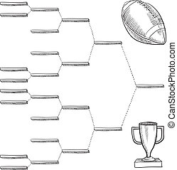 Blank football playoff bracket - Blank professional football...