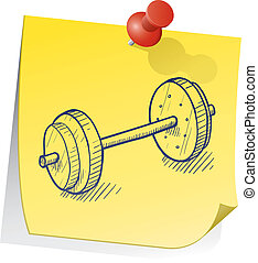 Remember to work out vector - Doodle style weightlifting...