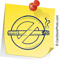 Remember to quit smoking - Doodle style nonsmoking symbol on...