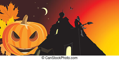 Pumpkin and night castle