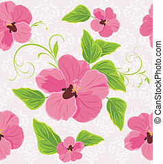 Decorative background with flowers - Decorative background...