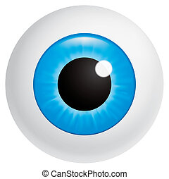 Eyeball - Isolated illustration Blue eyeball looking at...