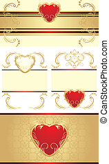 Decorative borders with hearts