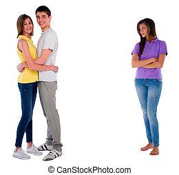 jealous teenage girl