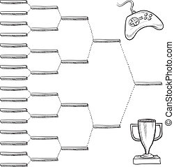 Video game tournament bracket - Blank video game tournament...