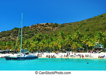 Caribbean British Virgin Islands - This world famous beach...