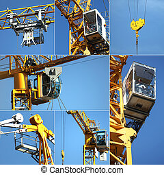 Collage of a crane