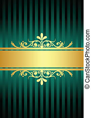 turquoise background - Vector gold turquoise background