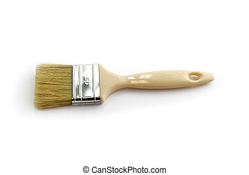 Clean paint brush