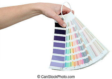 Paint colour samples