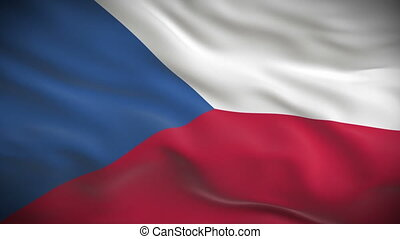 Highly detailed Czech flag