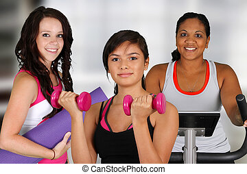 Group Working Out - Group of women working out at the gym