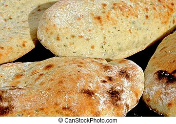 Coriander and yoghurt Naan bread. - Homemade coriander and...