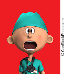 Shocked Surgeon - Surgeon that has a very shocked and...