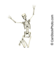 Happy Jumping Skeleton - Skeleton that is jumping for joy...