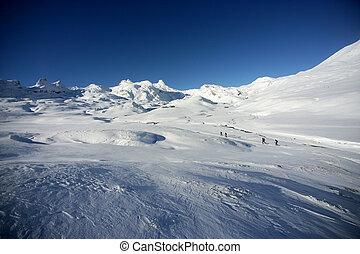 Cross country ski-ing