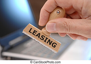 leasing - rubber stamp marked with leasing
