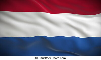 Highly detailed flag Netherlands - Highly detailed flag of...