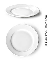 EMPTY PLATE - White plate isolated on white