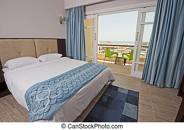 Bedroom in a hotel suite - Luxury hotel bedroom with a...